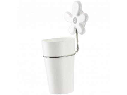 Kelímek do koupelny A-PRIL s rukojetí - barva bílá, KOZIOL