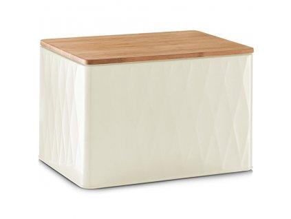 Kovový kontejner na chleba, krájecí prkénko, 2v1, 28x21x20 cm, ZELLER