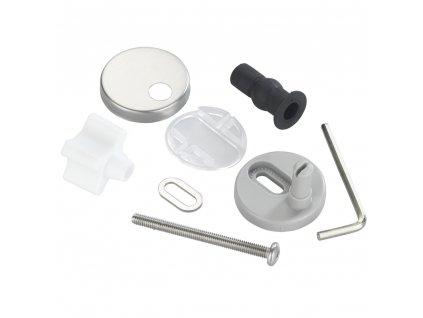 Montážní sada pro toaletní sedátko, Fix-Clip, panty,nerezová ocel, 15 elementů, WENKO