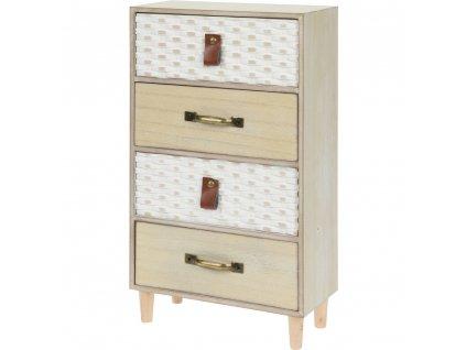 Dřevěná skříňka na drobnosti, se 4 zásuvkami