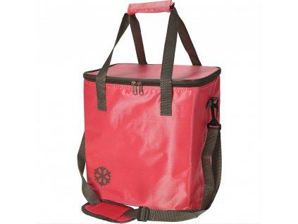 Tepelný, skládací koš, nákupní taška, pro piknik, 24 l, barva červená