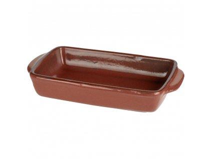 Keramické nádobí žáruvzdorné pro zapékání, barva hnědá