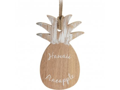 Dekorativní krájecí prkénko, PINEAPPLE, servírování jídla - kaučukové dřevo