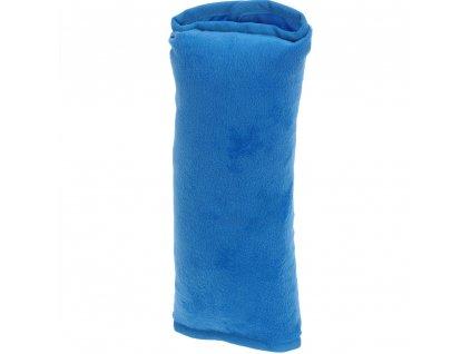Cestovní polštářek, do auta na bezpečnostní pás - barva modrá