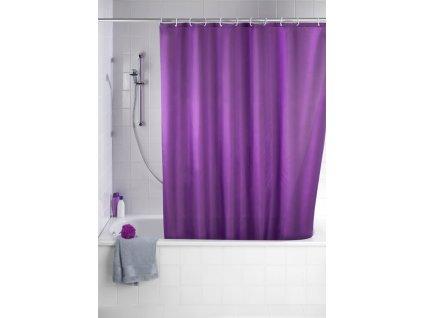 Sprchový závěs, textilní, barva fialová, 180x200 cm