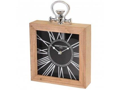 Dřevěné hodiny KENSINGTON STATION stolní, nástěnné