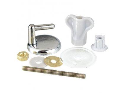 Montážní sada pro toaletní sedátko, panty, chromovaná ocel,15 elementů, WENKO