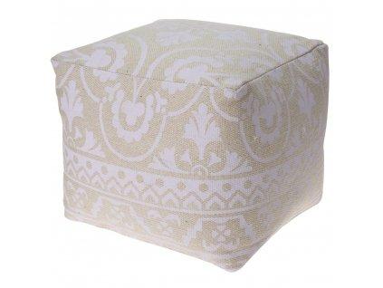 Bavlněný taburet, sedátko, opěrka nohou - 40 x 35 cm