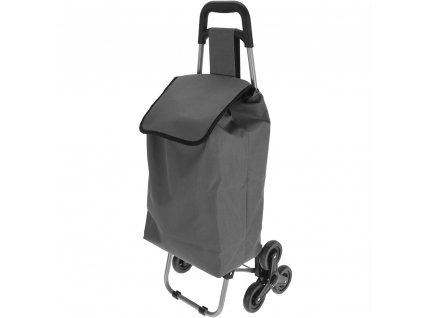 Vozík na kolečkách, nákupní taška - barva šedá  Emako