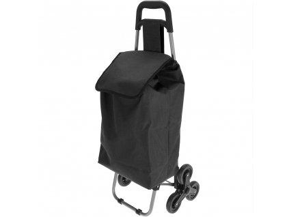 Vozík na kolečkách, nákupní taška - barva černá Emako