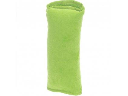Cestovní polštářek, do auta na bezpečnostní pás - barva zelená