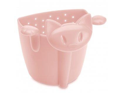 Sítko na čaj MIAOU , barva růžová, KOZIOL