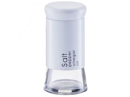 Solnička, dávkovač soli SALT - barva bílá, ZELLER