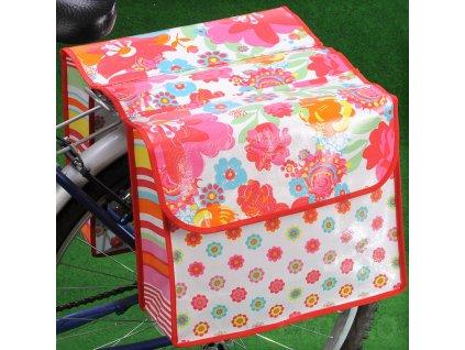 Taška na jízdní kolo CONFETTI DESIGN, dvojitá Emako