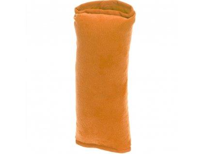 Cestovní polštářek, do auta na bezpečnostní pás - barva oranžová