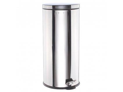 Odpadkový koš, koš na odpadky - 30L, nerezová ocel