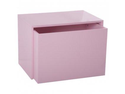 Skříňka, box, box na hračky, krabice na hračky, komoda na hračky, odkládací regál, kontejner na hračky, hrací vozík - barva růžová, 58 x 42 x 38 cm