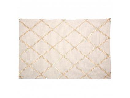 Koupelnový koberec, koupelnová předložka, protiskluzová podložka, béžová předložka, 90 x 60 cm, béžová barva