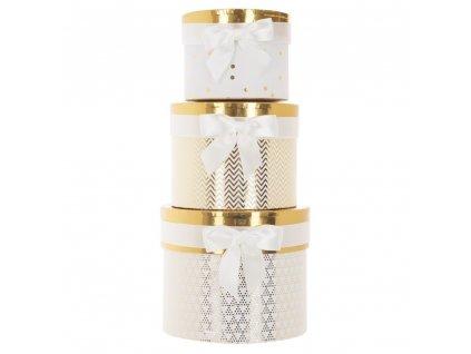 Zlaté nádoby s lukem, průměr 14, 17, 19 cm