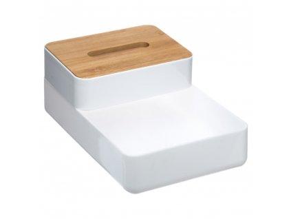 Dóza, box, dóza na papírové kapesníčky, box na kosmetiku, box na drobnosti, organizér WHITE