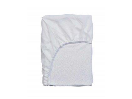 Bavlněné prostěradlo na postel, voděodolné prostěradlo na matraci, 100% hustě tkaná bavlna - bílá barva, Essenza - 90x200