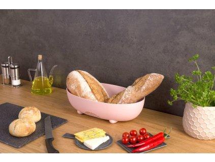 Kontejner na chleba MANNA - barva růžová, KOZIOL
