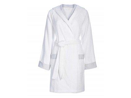 Dámská župan s kapsami, na zavazování v pase, 100% bavlna, bílá barva, Esprit - L