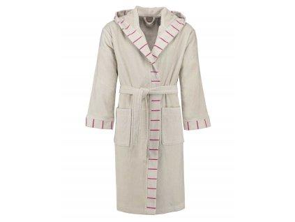 Pánský nebo dámský župan s kapsami a s kapucí, kabát po koupeli, 100% bavlněné froté - béžová barva, Esprit - M