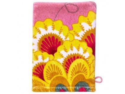 PiP Studio  ekskluzywne pościele Měkká žínka na mytí těla, doplněk do koupelny, 100% bavlna velur   květinový vzor  růžová barva, PiP Studio