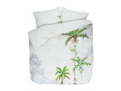 Bavlněná sada povlečení na dvojlůžko, sada okrasného povlečení, 100% bavlněné plátno - motiv palmy, PIP Studio -  200x220+2/60x70