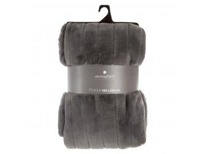 Antracitová deka, přehoz na postel, 180 x 230 cm