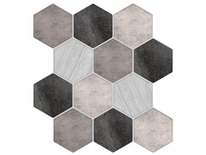 Dekorační nálepky se vzorem barevných šestiúhelníků umožní zajímavé zpestření interiéru