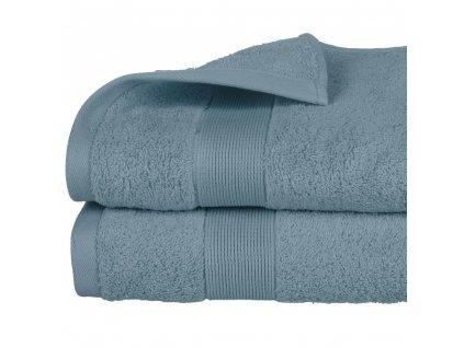 Koupelnový ručník z bavlny v modré barvě