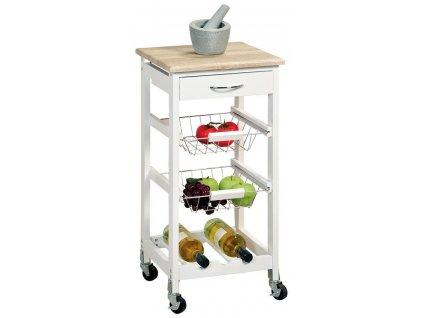 Kuchyňský vozík na kolečkách se zásuvkami a koši ke skladování, praktický pomocník do kuchyně