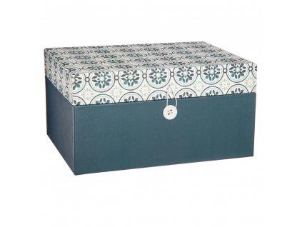 Krabička se zrcátkem k uchovávání a organizaci šperků, 12x23 cm