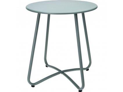 Kovový zahradní v zelené barvě, pevný kus nábytku na zahradu nebo praktický stůl na balkon