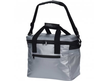Chladící taška na rameno ve stříbrné barvě, prostorná taška pro chlazení potravin a nápojů