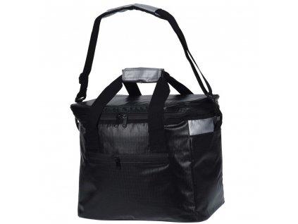 Taška izolující teplo v černé barvě, praktická chladící taška na výlet nebo piknik