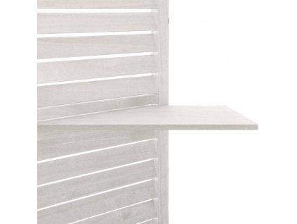 Bílý skládací paraván z MDF, WHITE SCREEN, 120x170 cm