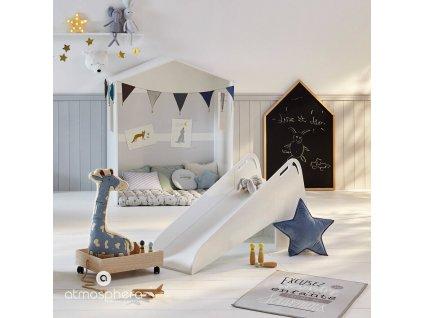 Kreslící tabule ve tvaru domu s dřevěným rámem, černá barva, 116.2x75.3x3 cm