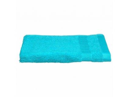 Tyrkysový koupelnový ručník, bavlněný