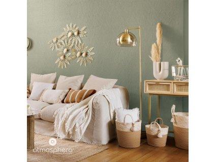 Bavlněná přikrývka v slonovinej barvě vhodná pro postel 230x250 cm