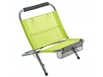 Plážové lehátko, skládací sedadlo na ryby, zelená barva