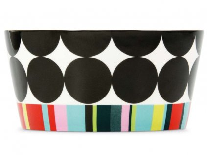 Snídaňová miska z porcelánu s barevnými vzory, 13,1x6,5 cm