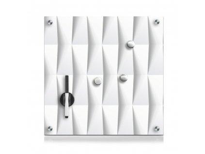 Skleněná magnetická tabule MEMO abstrakt + 3 magnety, 40x40 cm, ZELLER