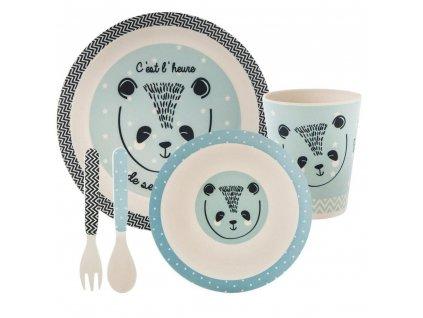 Sada nádobí pro děti - modrá, 5 prvků