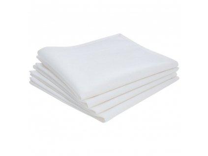 Bavlněné ubrousky - 4 kusy, nádobí, 40 x 40 cm, smetana