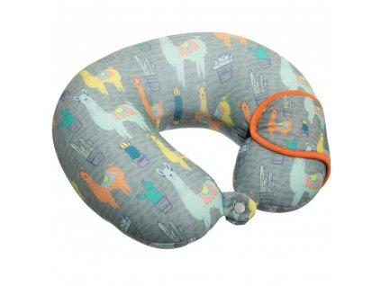 Barevné cestovní polštář pod hlavou s oční maskou pro děti s domácími mazlíčky