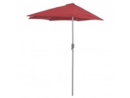 Deštník 270 cm, Půlkruhový, Červená, Serena Garden