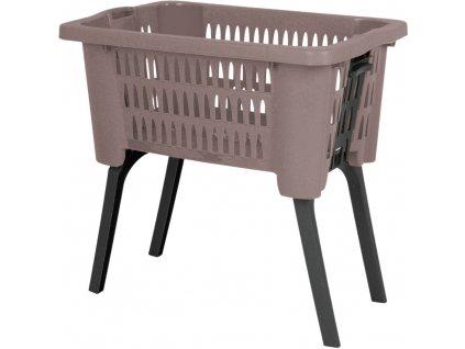 Košík na prádlo, oblečení - kontejner s nohama - 38 L